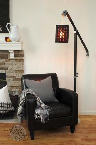 Industrial Zinc Pulley Floor Lamp