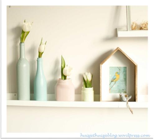 Painted Jars in Pastels