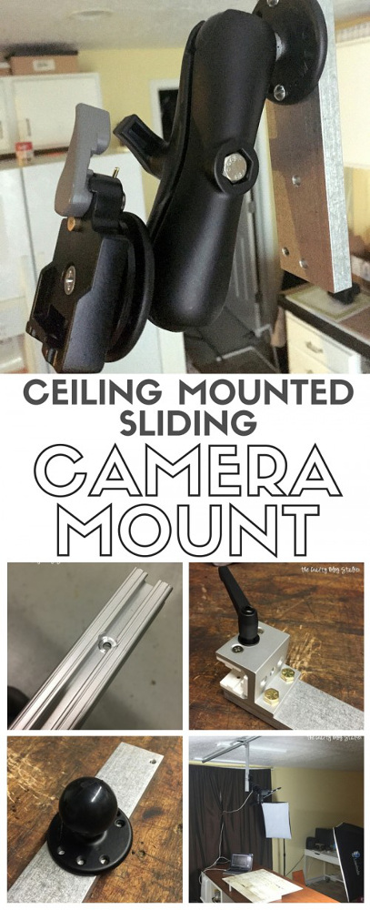 DIY Ceiling Mounted Sliding Camera Mount