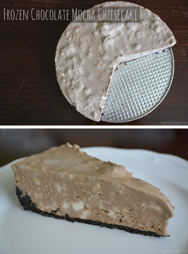 Frozen Chocolate Mocha Cheesecake Recipe. Absolutely DELICIOUS Cheesecake. Get the recipe here.