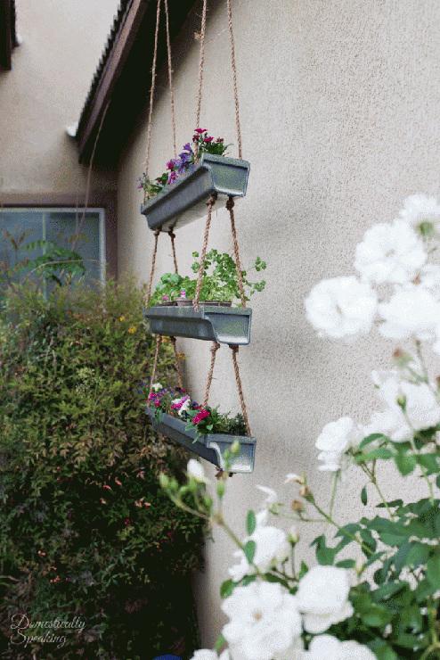 DIY Rustic Industrial Hanging Planter