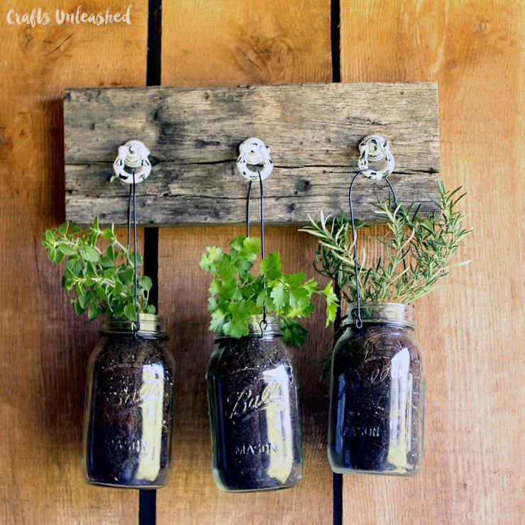 Herb Jar DIY Hanging Garden