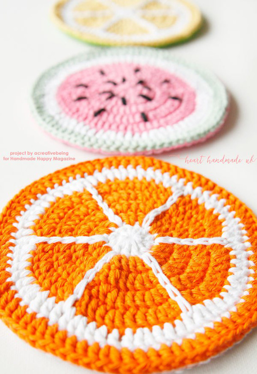 Share your projects. How to Crochet Fruit Potholders