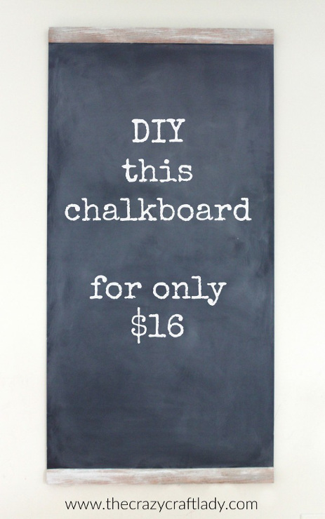 DIY a Large Chalkboard for Practically Nothing
