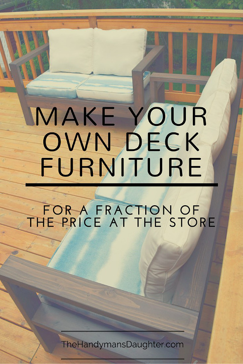 Make Your Own Outdoor Sofa and Loveseat