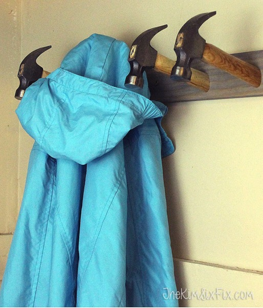A Coat Rack Made From Hammers
