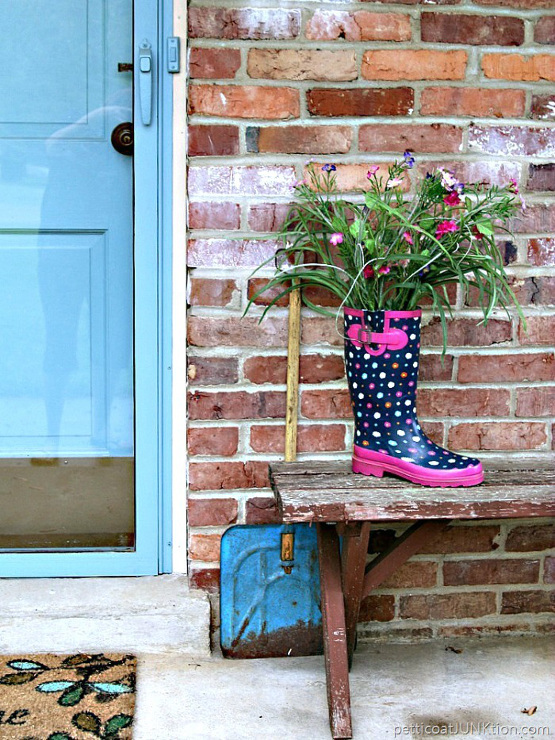 Rain Boots And Flowers Make Me Smile