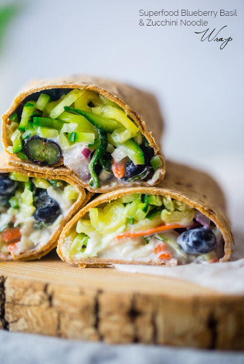 Zucchini Noodles Blueberry Basil Wrap