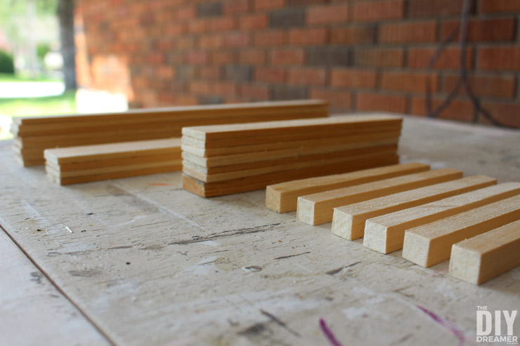 DIY Paint Stirrers and Square Dowel