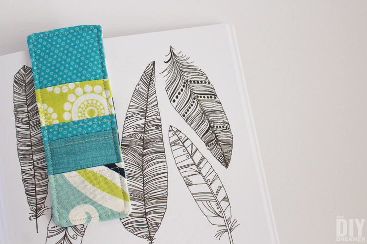 Sewing fabric bookmarks is a great sewing project for beginners.