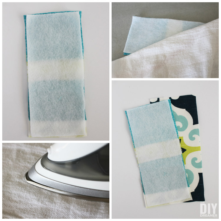 How to iron fusible fleece