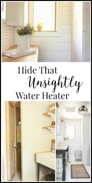 Hide an Unsightly Water Heater