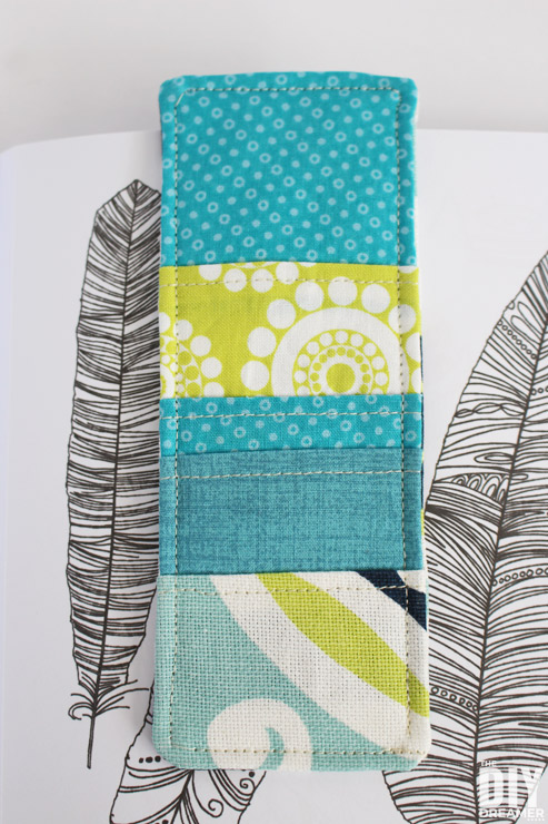 Sewing for beginners. Learn how to sew fabric bookmarks.
