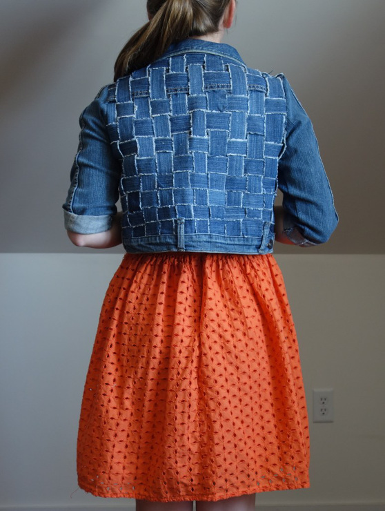 An Awesome Jean Jacket Made From Old Jeans