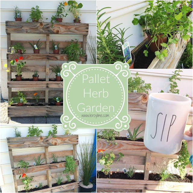 Share your projects diy crafts and recipes 221 for Diy pallet herb garden