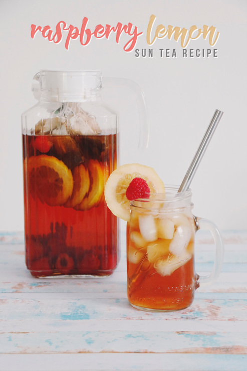 Simple Raspberry Lemon Sun Tea Recipe