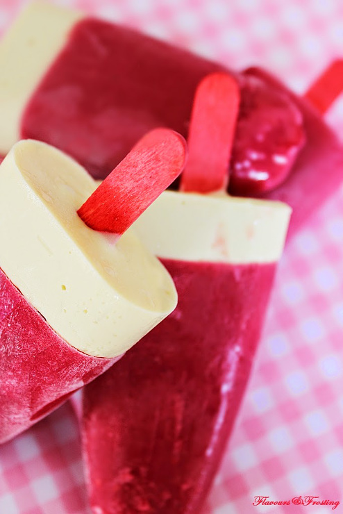 White Chocolate Raspberry Popsicle