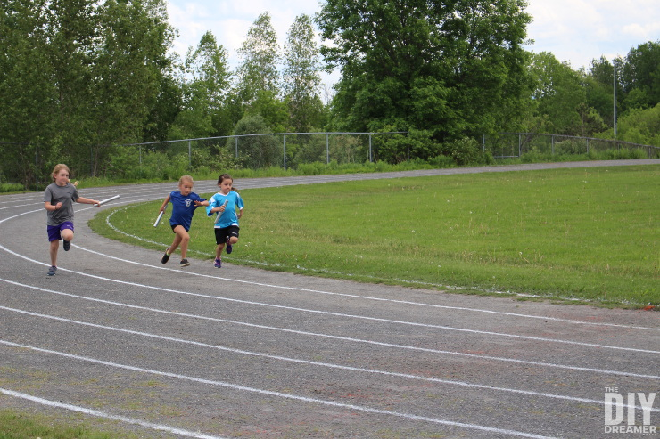 Relay Race around track