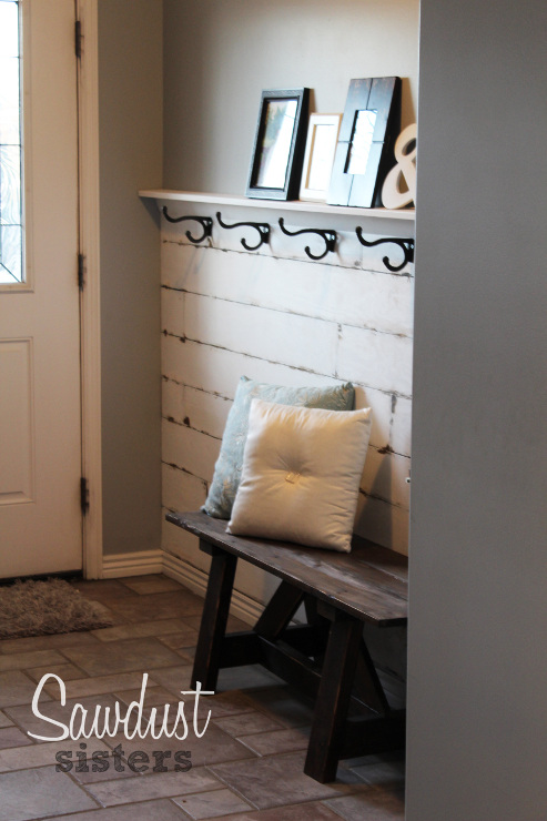DIY Entry Way Plank Wall