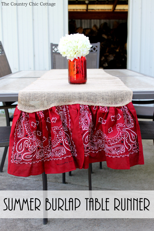 Summer Burlap Table Runner