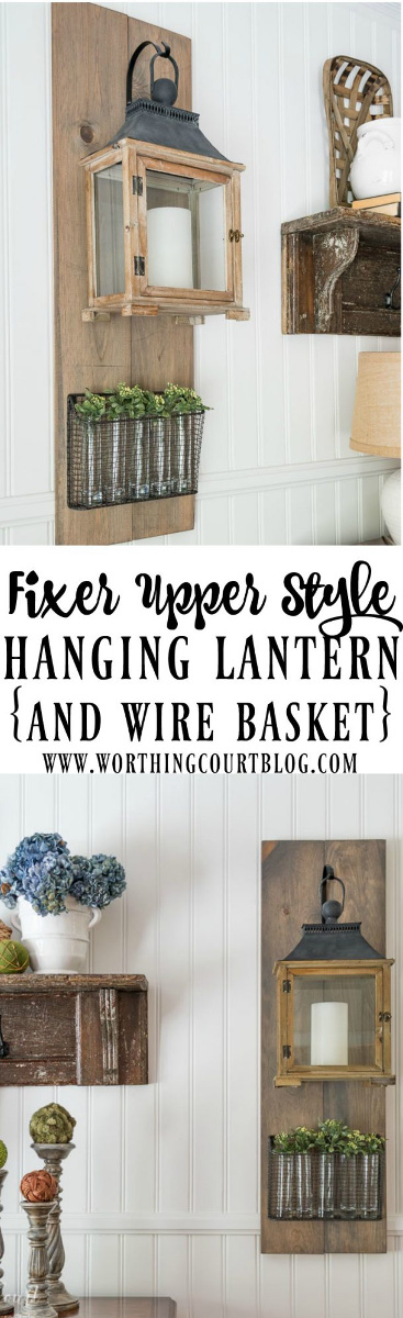 Fixer Upper Style DIY Hanging Lanterns