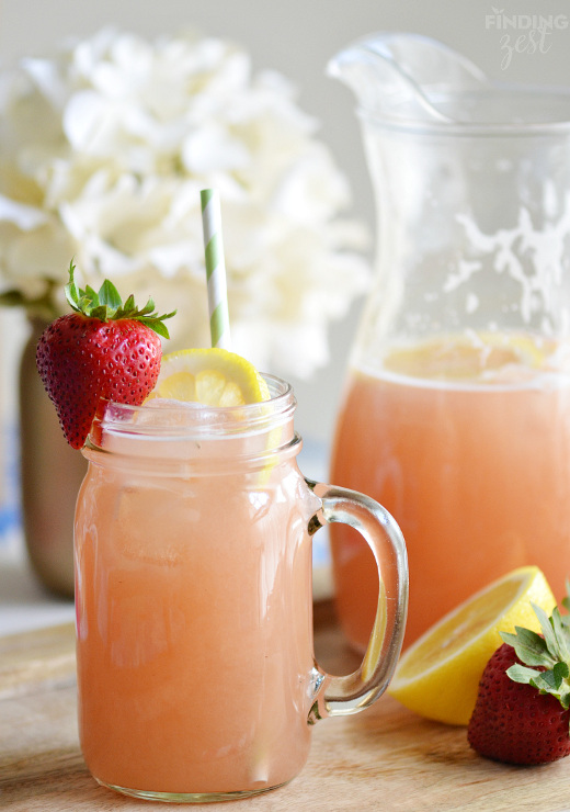 Homemade Strawberry Rhubarb Lemonade