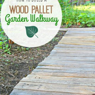Easy Upcycled DIY Wood Pallet Garden Walkway