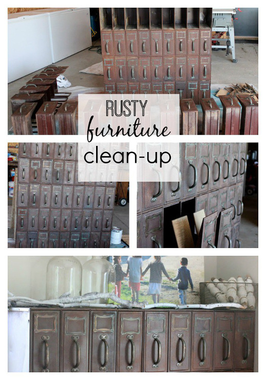 Rusty Cabinet Clean Up