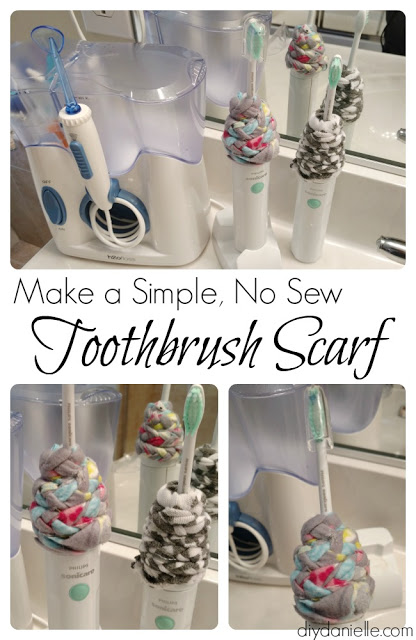 Make an Easy, No Sew Toothbrush Scarf