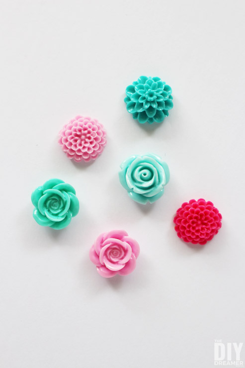 Beautiful colorful Flower Cabochons