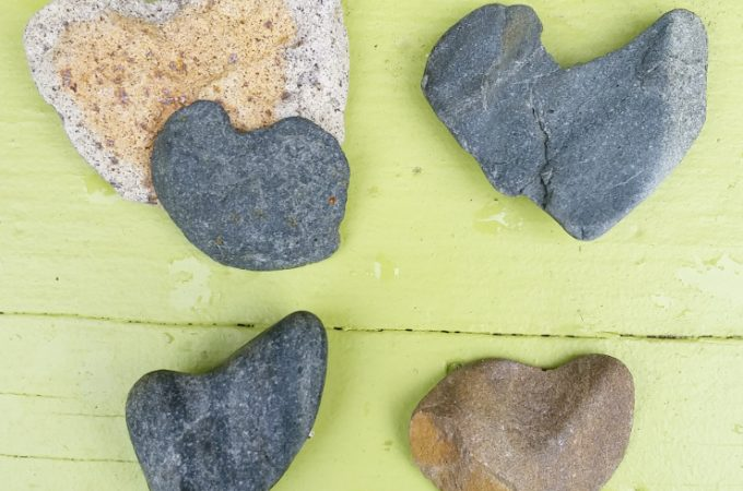 We collected a few stone hearts during vacation! So much fun to collect! We will be writing the location and date behind each of them.