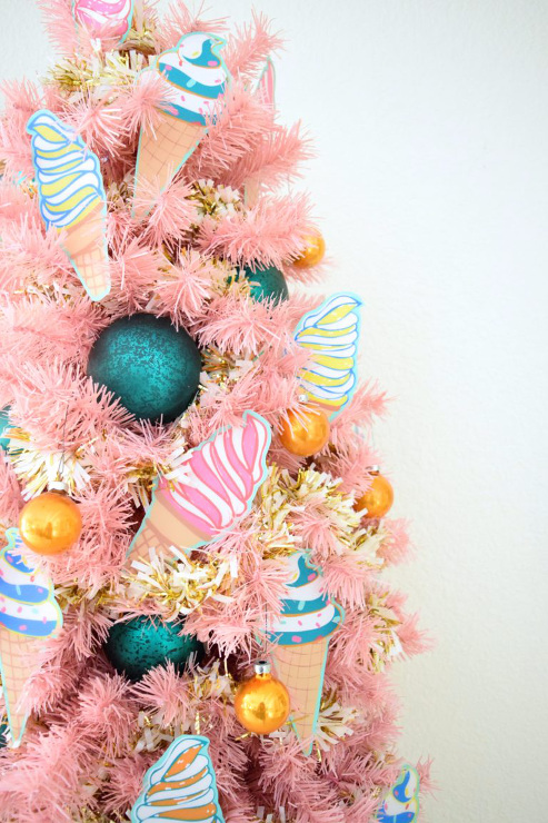 How to Decorate a Pink Tree for National Ice Cream Day