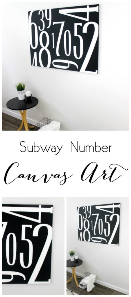 How to Make Your Own Number Subway Art
