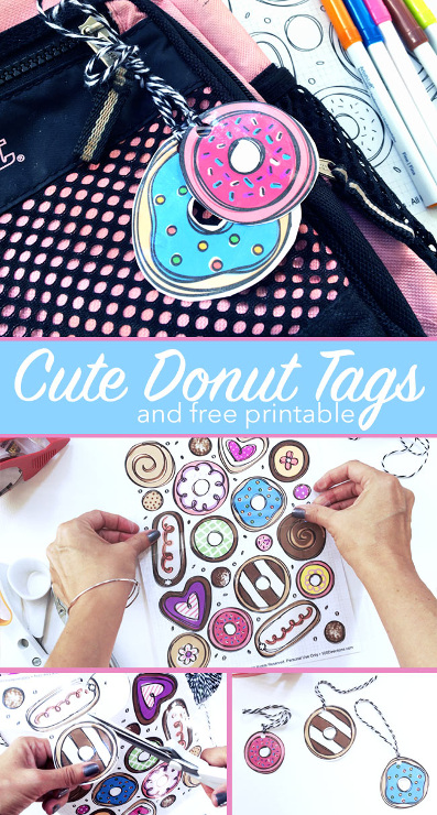 Cute Donut Tags – Free Printable
