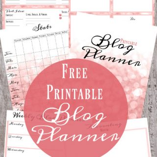 Behind the Blog: FREE Printable Blog Planner