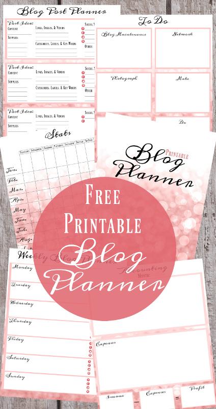 Behind the Blog: FREE Printable Blog Planner