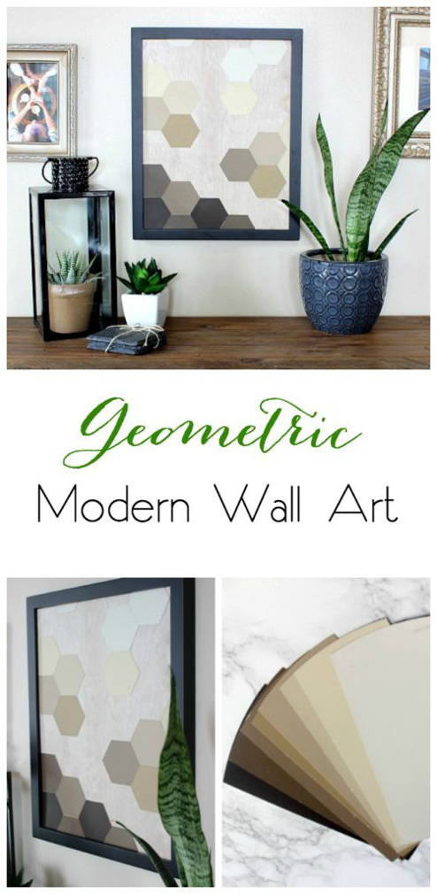 DIY Geometric Modern Wall Art
