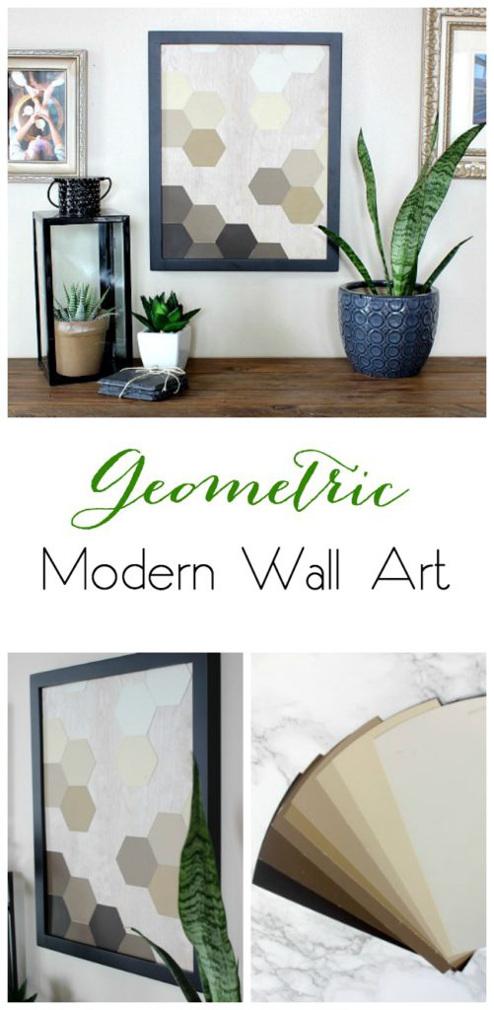DIY Geometric Modern Wall Art