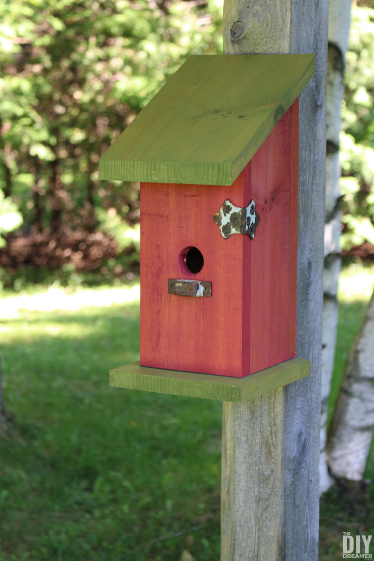 Learn how to build a birdhouse without nails, screws or glue! DIY Nail-Less, Screw-Less, Glue-Less Birdhouse tutorial!