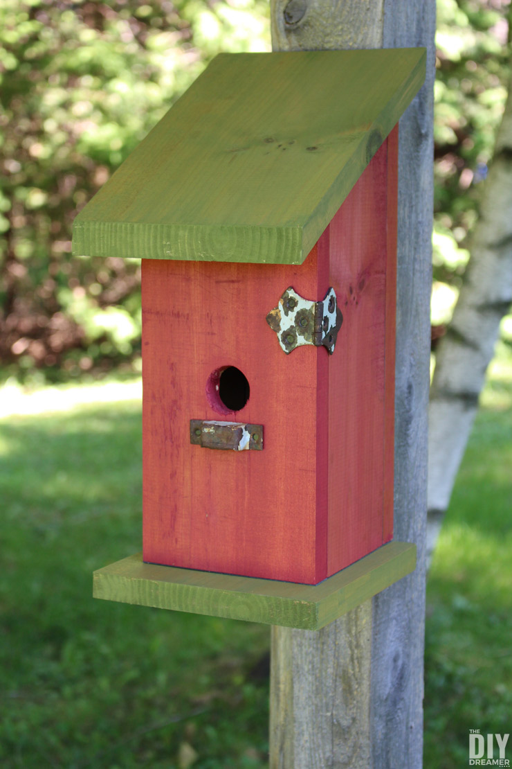 Building a Nail-Less, Screw-Less, Glue-Less Birdhouse! Such a fun and unique way to build a birdhouse. Detailed DIY birdhouse tutorial.