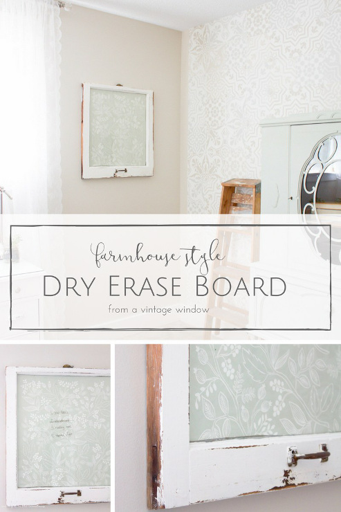 How to Make a Farmhouse Style DIY Dry Erase Board