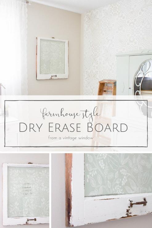 How to Make a Farmhouse Style DIY Dry Erase Board