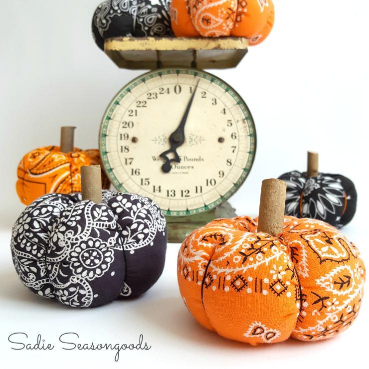 Country Bumpkin Halloween Bandana Pumpkin
