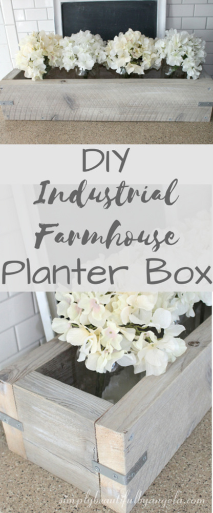 DIY Industrial Farmhouse Planter
