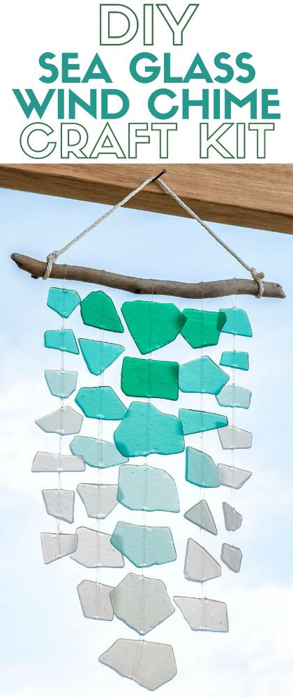 DIY Sea Glass Wind Chime Craft Kit