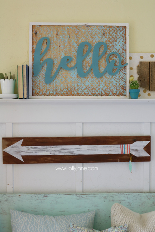 DIY Stenciled Hello Sign