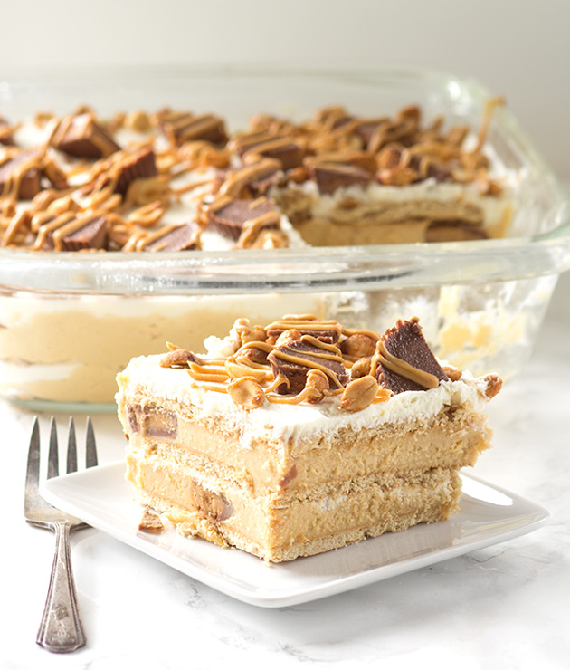 Peanut Butter Ice Box Cake