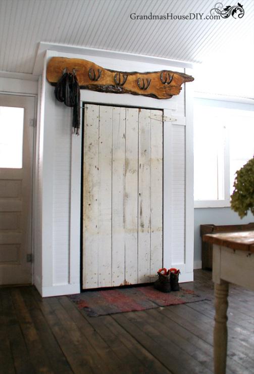 Rustic Barn Door Closet