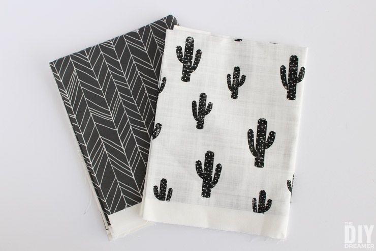 Canvas fabric is a great fabric to use for pouches, especially if you aren't making a lined pouch!