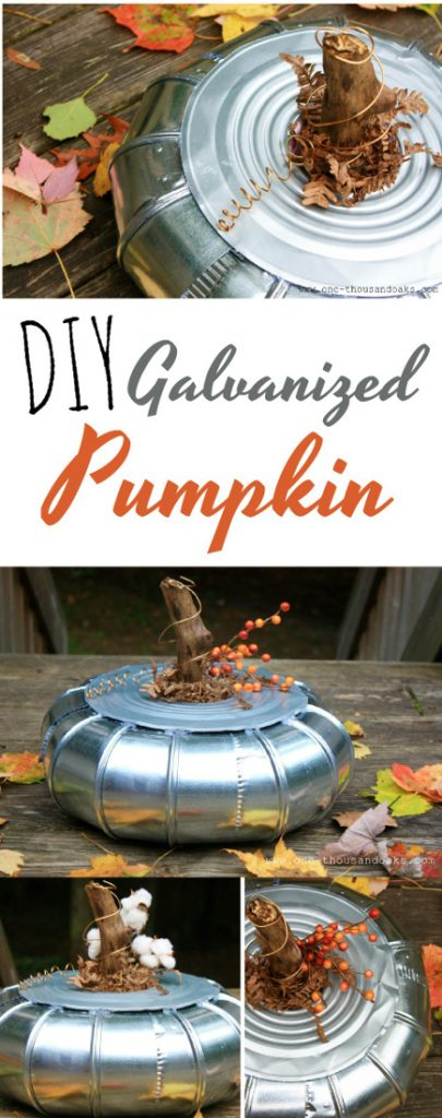 DIY Galvanized Pumpkin